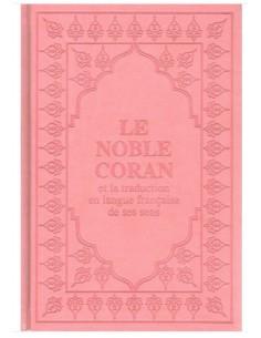 Coran Arabe/Français rose clair