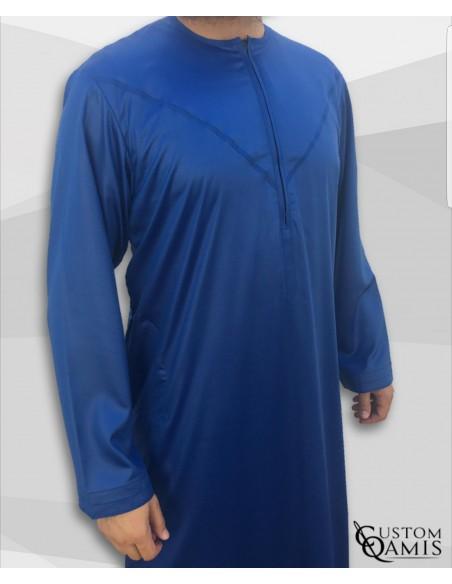 Qamis Emiratis Bleu